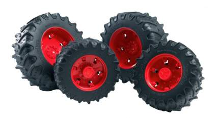 Шины Bruder Для системы сдвоенных колёс с красными дисками 4 шт.