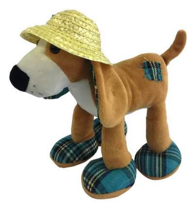 Мягкая игрушка Teddy Собака в соломенной шляпе, 23 см