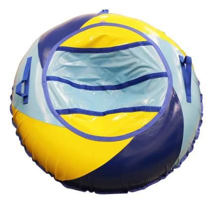Тюбинг детский Belon Тент-спираль 100 см голубой/сине-желтый