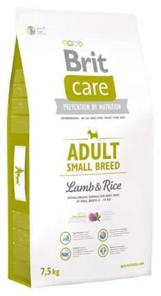Сухой корм для собак Brit Care Adult Small Breed, для мелких пород, ягненок и рис, 7,5кг