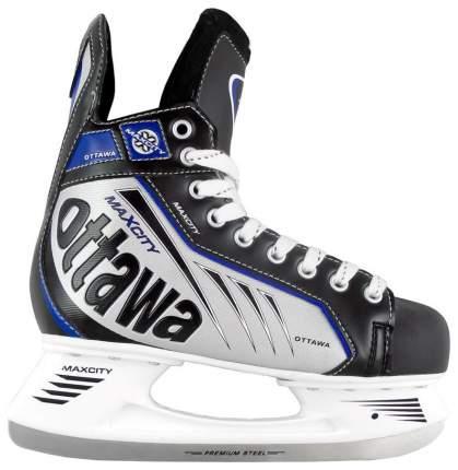 Коньки хоккейные MaxCity Ottawa, black/blue, 38 RU
