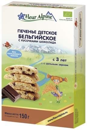 Печенье Fleur Alpine Бельгийское с кусочками шоколада 150 г