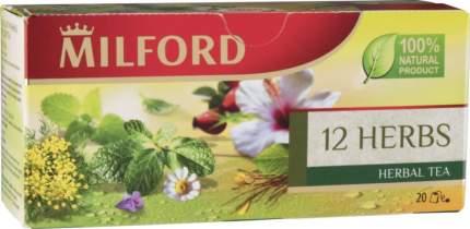 Чай травяной Milford 12 herbs 20 пакетиков