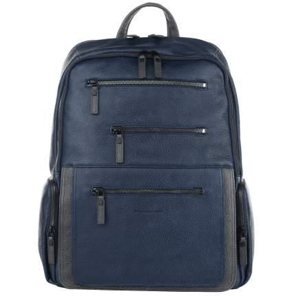 Рюкзак кожаный Piquadro Karl синий 23 л