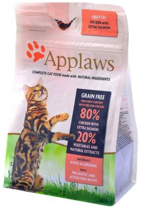 Сухой корм для кошек Applaws, беззерновой, курица, лосось, овощи, 0,4кг