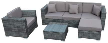 Комплект мебели из иск. ротанга YR921 Gray