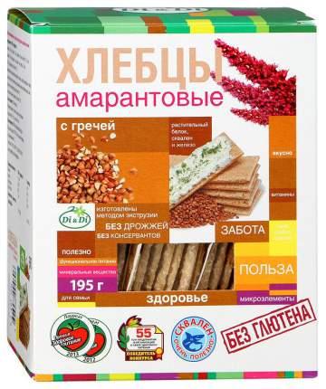 Хлебцы рисово-кукурузные с гречкой Di&Di амарантовые без глютена