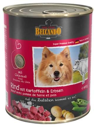 Консервы для собак BELCANDO Super Premium, говядина, картофель, горох, 800г