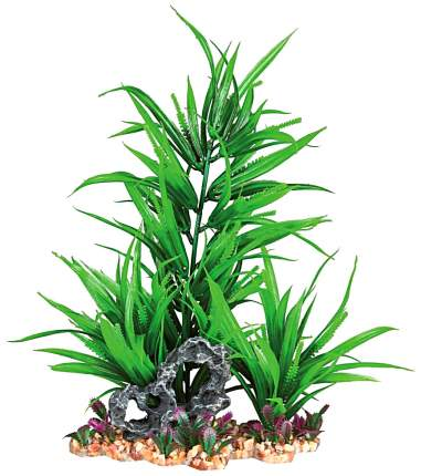 Растение для аквариума Trixie Plastic Plant Gravel bed 28см