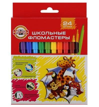 Набор фломастеров Koh-I-Noor Школьные Веселые животные 24 цвета