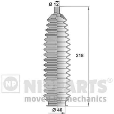 Пыльник рулевой рейки Nipparts J2841016