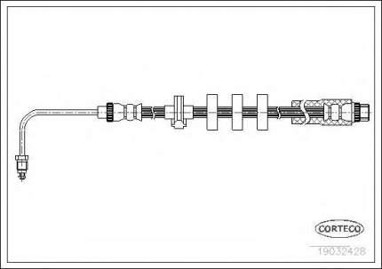 Шланг тормозной системы Corteco 19032428