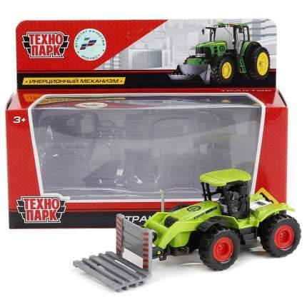 Трактор Технопарк сельхозтрактор зеленый 77035-r