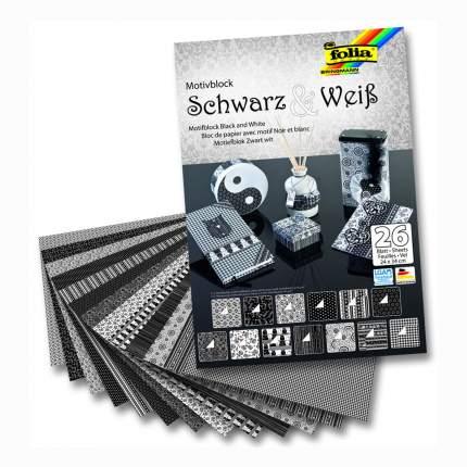 Набор стильного дизайнерского картона/бумаги, 24x34 см, 30 листов, черно-белый