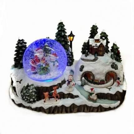 BW20124 (1-4) Новогодняя композиция: новогодний шар, музыка, свет,снег 30*16*17см