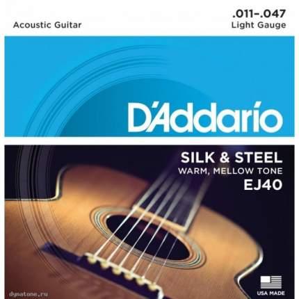 Струны для фолк гитары D ADDARIO EJ40