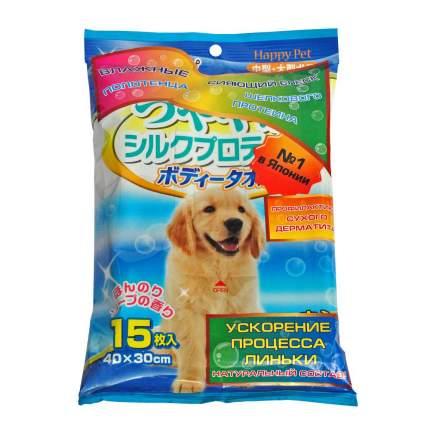 Полотенца для экспресс-купания без воды Japan Premium Pet, с медом, для крупных собак,15шт