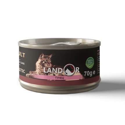 Консервы для кошек Landor, тунец, 70г