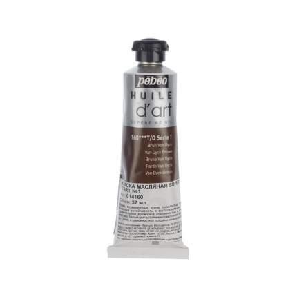 Масляная краска Pebeo Super fine d'Art №1 ван дейк коричневый 014160 37 мл