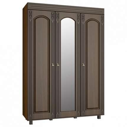 Платяной шкаф Компасс-мебель Элизабет ЭМ-18 KOM_EM18_2 150x55x215, орех темный