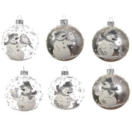 Набор шаров на ель KAEMINGK Новый год 8 см 6 шт 133622