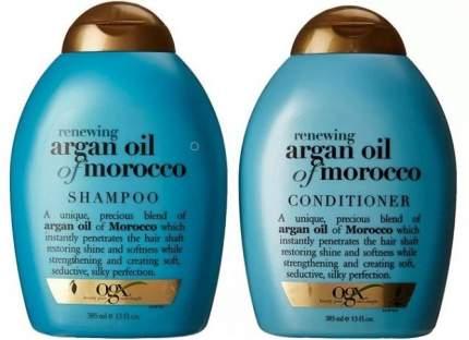 Подарочный набор OGX шампунь с маслом Марокко 385мл+кондиционер с маслом Марокко 385мл