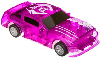 Пластм. инерц. (pull back) машина Краш-тест, Bondibon, ВОХ 17х4х20 см, фиолетовая.