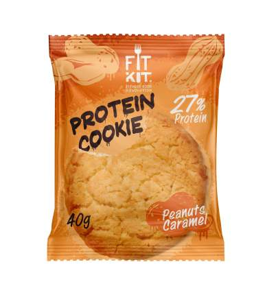 Fit Kit Protein Cookie 40 г Арахис-карамель