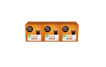 Кофе в капсулах Nescafe Dolce Gusto Лунго Колумбия 3 штуки по 12 капсул