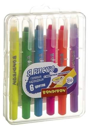 Набор гелевых карандашей для рисования Bondibon 6 цветов