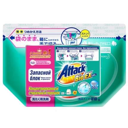 Концентрированный стиральный порошок Attack BioEX запасной блок 0.81 кг