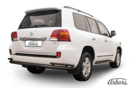 Защита заднего бампера d76  Arbori черн. для Toyota LC200 2015-нв