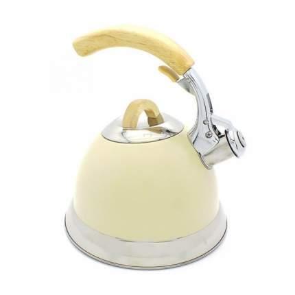 Чайник для плиты Катунь КТ-115C, 3,0л со свистком, айвари, индукц.