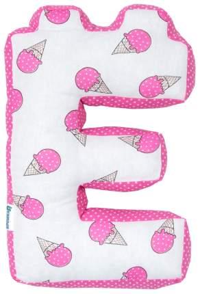 Подушка Крошка Я буква Е 35х25 см, розовый