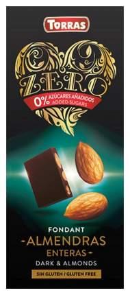Шоколад темный Torras zero с миндалем