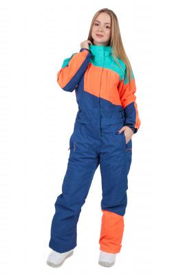 Комбинезон Qluck Tricolor W171015 green blue orange, XXL