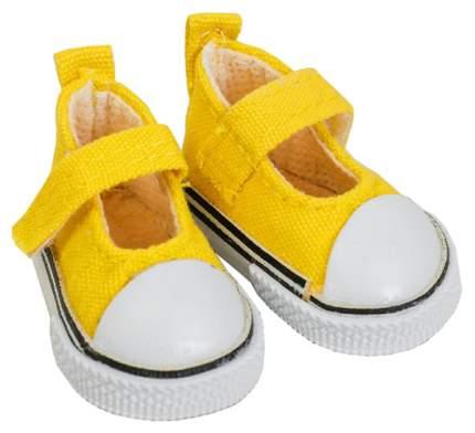 Полукеды для кукол, длина подошвы 5 см, цвет жёлтый Sima-Land