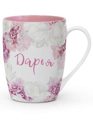 """Кружка Be Happy """"FLORA"""" с именем """"Дарья"""""""