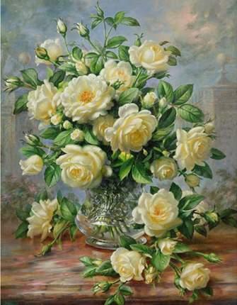 "Алмазная вышивка Алмазная Живопись ""Кустовая роза"", 50x64 см"
