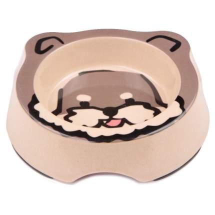 Миска для домашних животных Bobo, из бамбука, серая, 260 мл