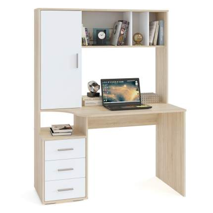Компьютерный стол СОКОЛ КСТ-16 1373117, дуб сонома/белый