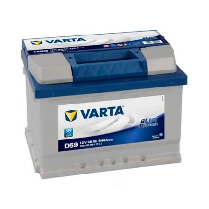 560409054_аккумуляторная Батарея! Blue Dynamic 19.5/17.9 Евро 60ah 540a 242/175/175 Varta