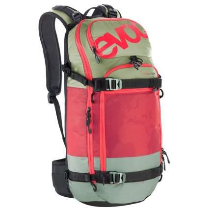 Рюкзак для лыж и сноуборда EVOC FR Pro Team M/L, olive/ruby, 20 л