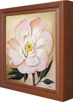 """Ключница """"Большой розовый цветок"""" Орех"""