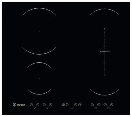 Встраиваемая варочная панель электрическая Indesit VID 641 B C Black