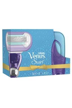 Подарочный набор GILLETTE VENUS Swirl бритва+кассеты д/бритья 2шт+косметичка