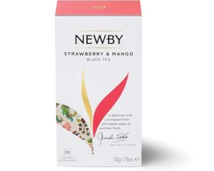 Чай черный Newby клубника и манго 25 пакетиков