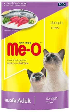 Влажный корм для кошек Me-O Adult, тунец в желе, 12шт по 80г