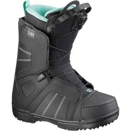 Ботинки для сноуборда Salomon Scarlet 2018, black, 26