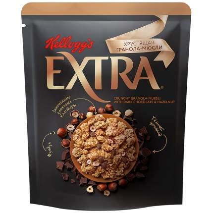 Гранола-мюсли хрустящая Kellogg's Extra с темным шоколадом и фундуком 300 г